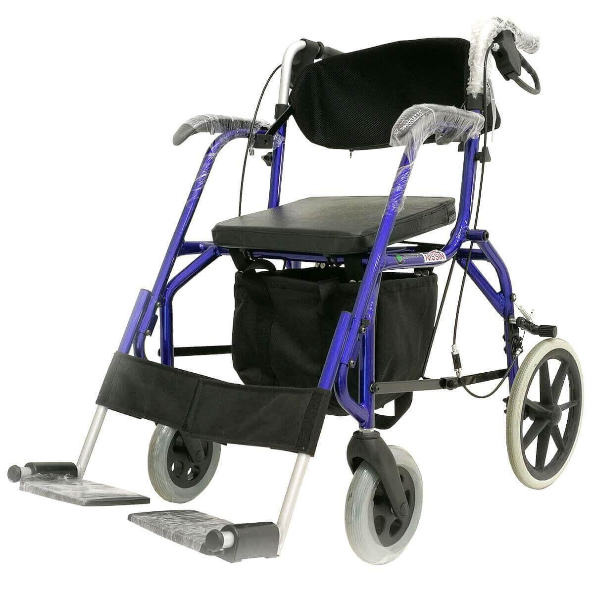 สุดยอดสินค้า!! Wheelchair Rollator รุ่น SL-812 รถเข็นหัดเดิน 2 in 1 (รถเข็นวีลแชร์+รถหัดเดิน)