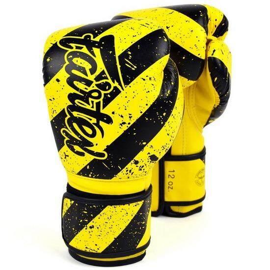 Fairtex แฟร์เท็กซ์ นวมชกมวย รุ่น Bgv14y นวมสีเหลืองดำ Yellow Black Grunge Art 14 ออนซ์ (xl) By Blue Marine.