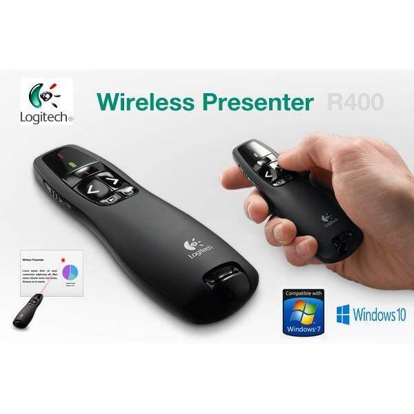 Logitech R400 Wireless Presenter Laser Pointer - Black (สีดำ)
