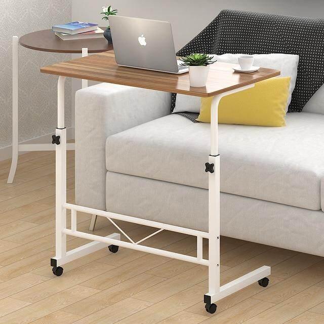 โต๊ะอ่านหนังสือมีล้อเลื่อน โต๊ะวางของ โต๊ะข้าง เอนกประสงค์ โต๊ะวางแทปเล็ต โน๊ตบุค โต๊ะทำงานมีล้อ ปรับระดับได้ By Abc..