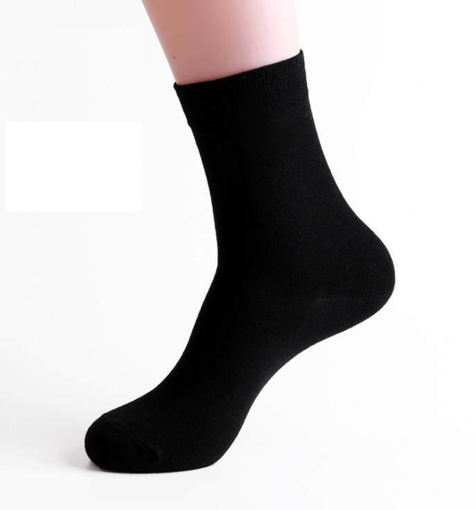 ถุงเท้าทำงานผู้ชายเรียบหรูฟรีไซร์ 5 คู่ ระงับกลิ่น ลดความอับชื้น เนื้อผ้า Cotton คุณภาพเกรด A มีให้เลือก 5 สีเฉพาะสี หรือคละสีได้ (ส่งฟรี) By C Cute Fashion.
