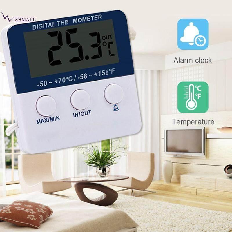 Wishmall เครื่องวัดอุณหภูมิไฟฟ้าเครื่องวัดอุณหภูมิแบบดิจิตอลเครื่องวัดอุณหภูมิเครื่องวัดอุณหภูมิสีขาว.