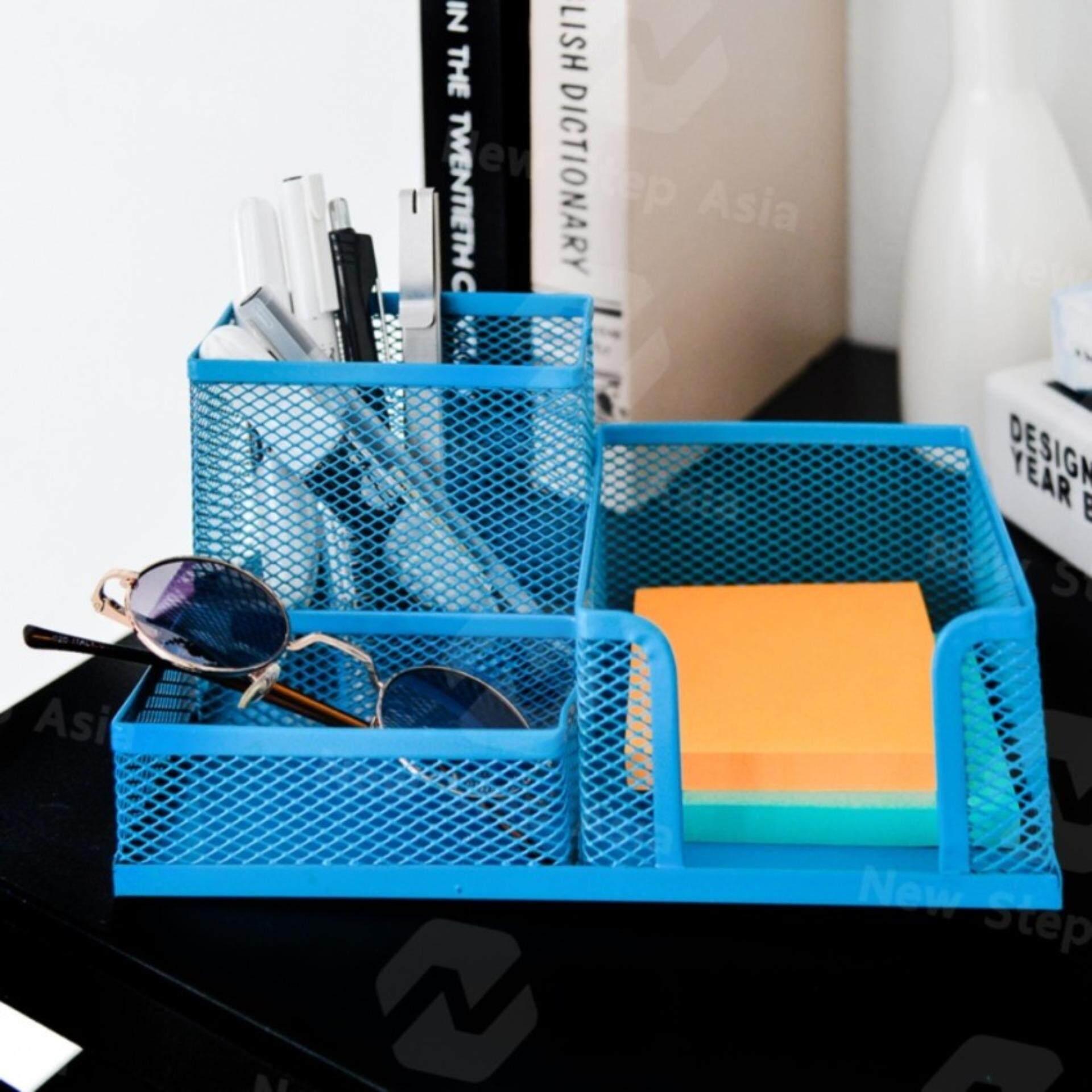Hakone กล่องเหล็กเก็บปากกา ที่เสียบปากกา อุปกรณ์จัดเก็บบนโต๊ะ Stationery Storage Desk Organizer กล่องใส่ปากกา ที่เสียบดินสอ กล่องใส่เครื่องเขียน ที่ใส่เครื่องเขียน กล่องเก็บของ กล่องใส่ของ Pen Box New Step Asia.