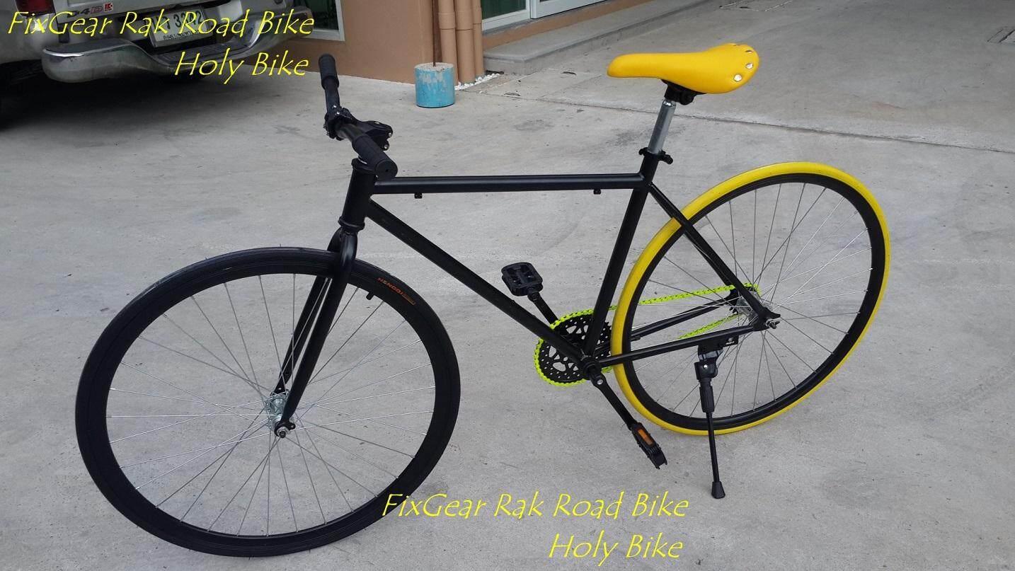 ฟิกเกียร์ ดำ-เหลือง ล้อ 700cc By Holy Bike Blessing.