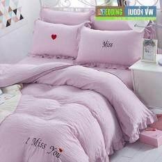 Bedding Cheap ชุดผ้าปู ผ้านวม 6 ชิ้น 6 ฟุต รุ่น AL1302