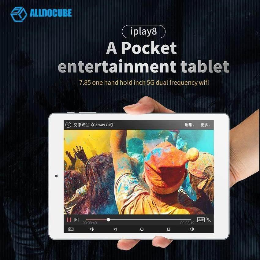 ALLDOCUBE (Cube) iPlay8 (U78) Tablets 7.85 IPS Android 6.0 MTK8163 Quad core HDMI GPS Dual Wifi 2.4G/5G 1G/16G