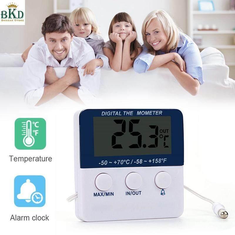 Bkodak Store สีขาวจอแสดงผลแอลซีดีดิจิทัลเครื่องวัดอุณหภูมิอิเล็กทรอนิกส์.