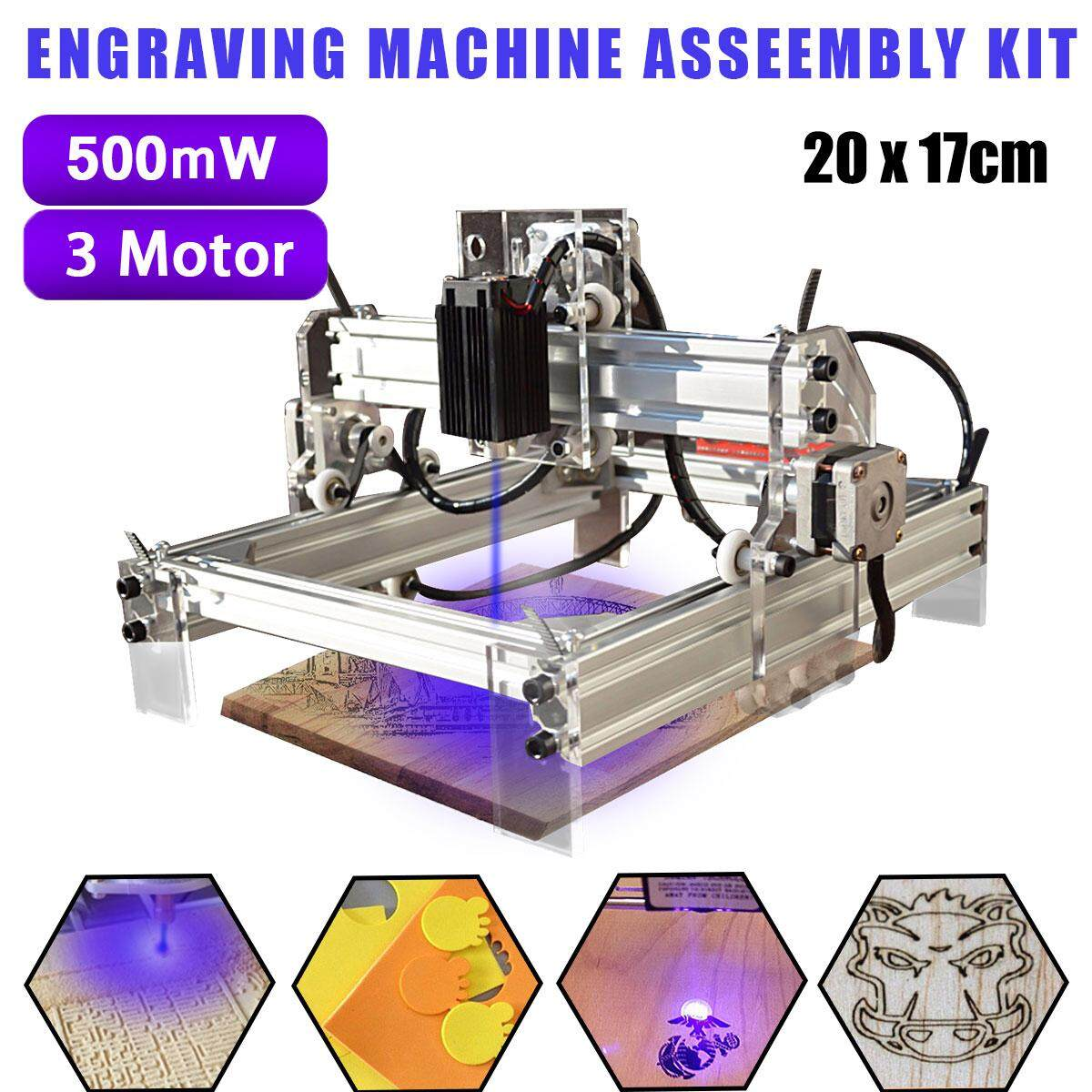 500mw Desktop Laser Engraving Engraver Machine Kit Diy Cutter Printer 20x17cm - Intl.