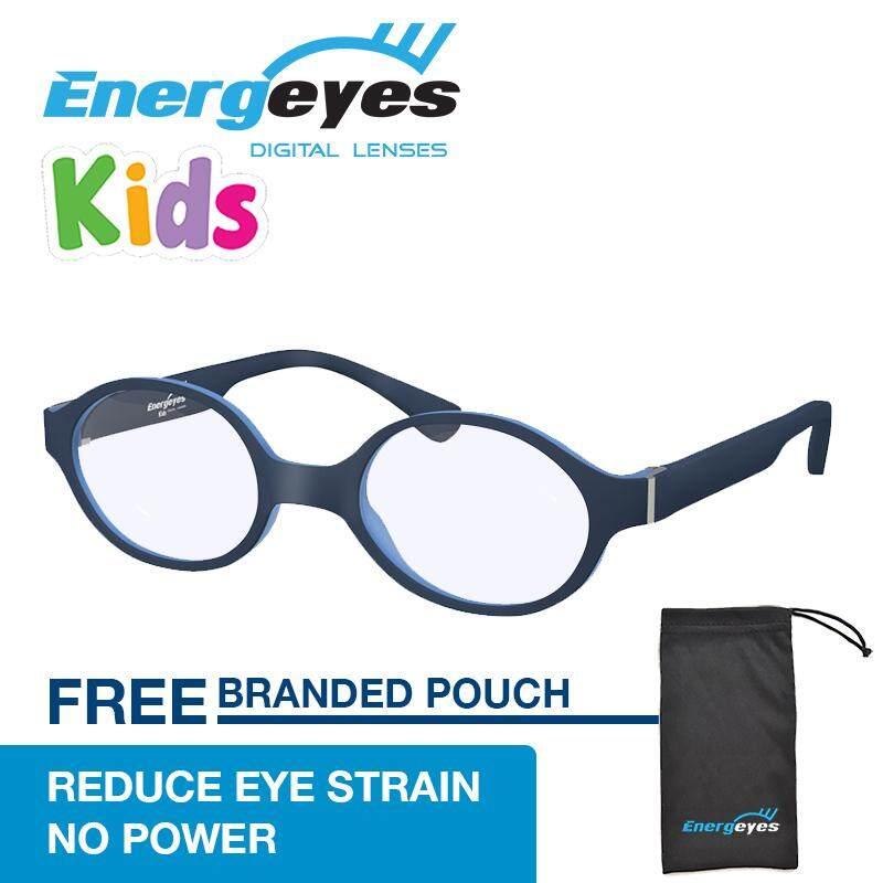 ซื้อ Energeyes Kids Protect Eyes และตัดแสงสีฟ้าโดย 50 คอมพิวเตอร์แว่นตาเด็กรอบ Matte สีน้ำเงินเข้มด้านหน้าและแสงสีฟ้ากลับ สนามบินนานาชาติ Energeyes เป็นต้นฉบับ