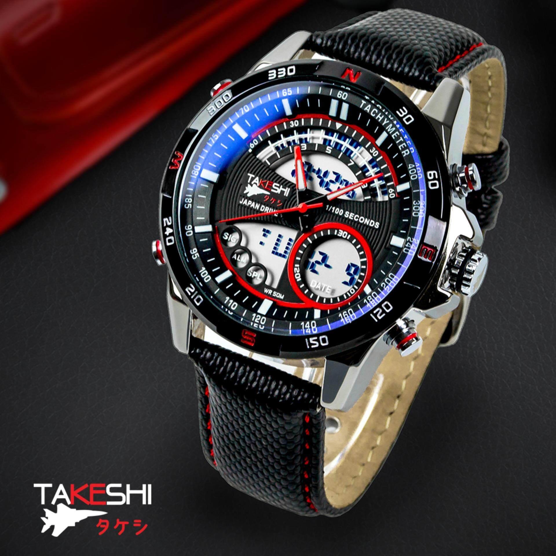ขาย นาฬิกาข้อมือชาย เครื่องญี่ปุ่น แฟชั่น สปอร์ต เท่ Takeshi Motor Sport Tk05R Chronometer Watch Takeshi เป็นต้นฉบับ