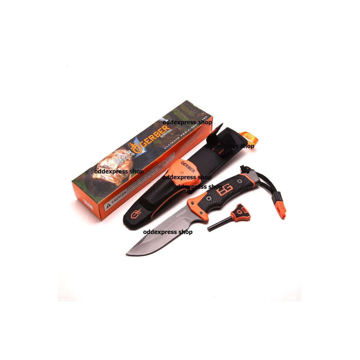 100 Gerber Bear Grylls Ultimate Pro Fixed Blade มีดพก ใบมีดพับไม่ได้ยาว 10 นิ้ว ถูก