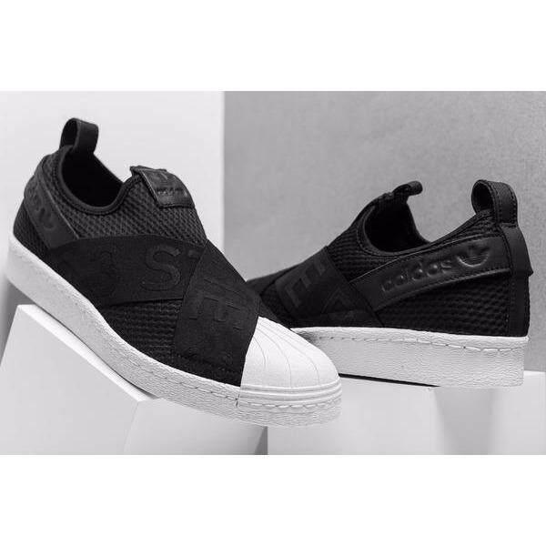 เก็บเงินปลายทางได้ ADIDAS SLIP ON อาดิดาส รองเท้าผ้าใบ แฟชั่น SUPERSTAR USA BLACK (รุ่นใหม่ล่าสุด) ++ลิขสิทธิ์แท้ 100% จาก ADIDAS พร้อมส่ง ส่งด่วน kerry++
