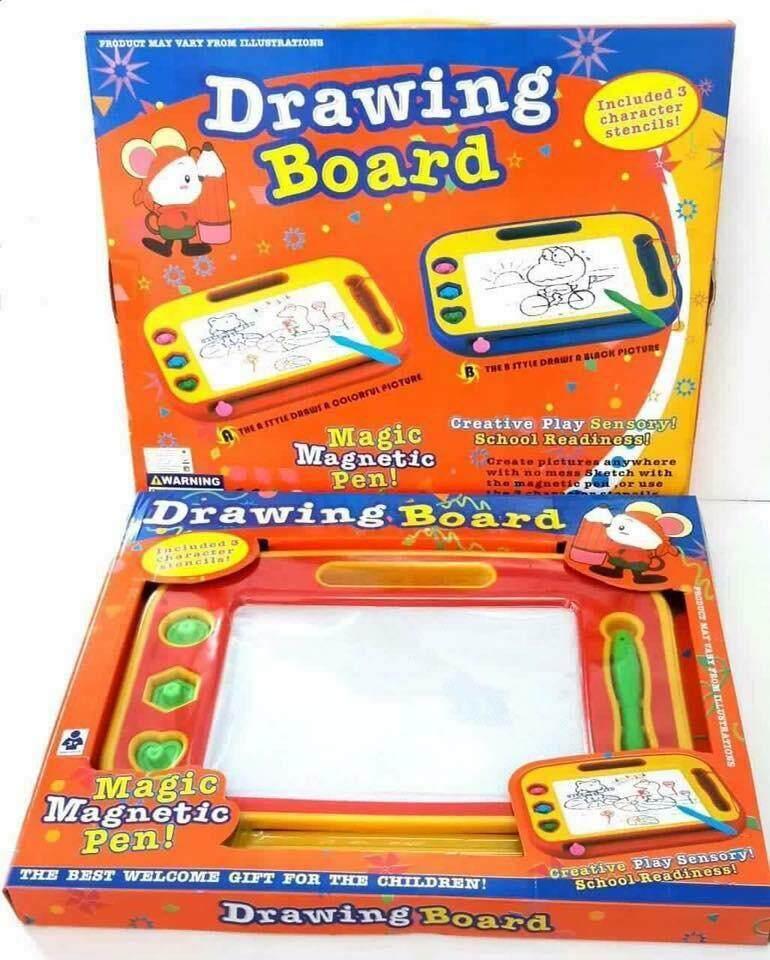 Kts Toys กระดานแม่เหล็ก 4 สี เขียน-ลบได้ Magnetic Multi-Color Drawing Board .