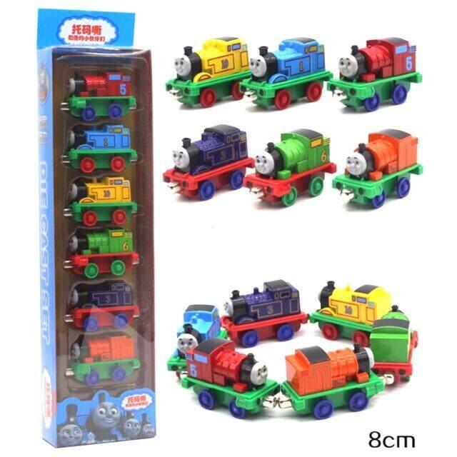 Sale ของเล่น ถูกสุดๆวันนี้ รถไฟโทมัส Thomas 6 คัน เหล็ก เป็นแม่หล็กดูดต่อคันกันได้ รถไฟ หัวเหล็ก By Noktoys.kt