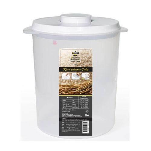 UDEE กล่องถนอมอาหารปุ่มกดซีลอากาศ 7 L - รุ่นถังข้าวสาร