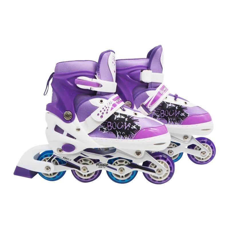 ราคา Power Aosite รองเท้าสเก็ต โรลเลอร์เบลด โรลเลอร์สเก็ต เล่น สเก็ต Size L 38 43 สีม่วง ที่สุด
