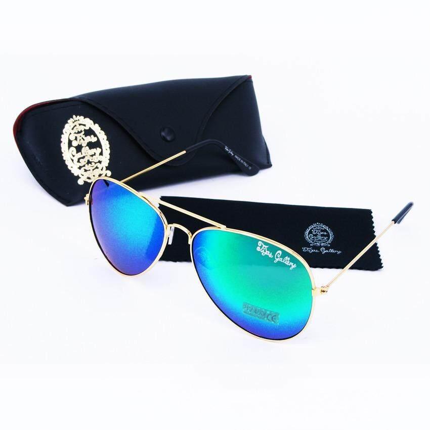 ซื้อ Tips Gallery แว่นตากันแดด รุ่น Le Pilote Design Vfr002 เลนส์ ปรอท เขียว Flash Green Spectrum ฟรี กล่องแว่นตา และ ผ้าเช็ดแว่น Micro Fiber ออนไลน์