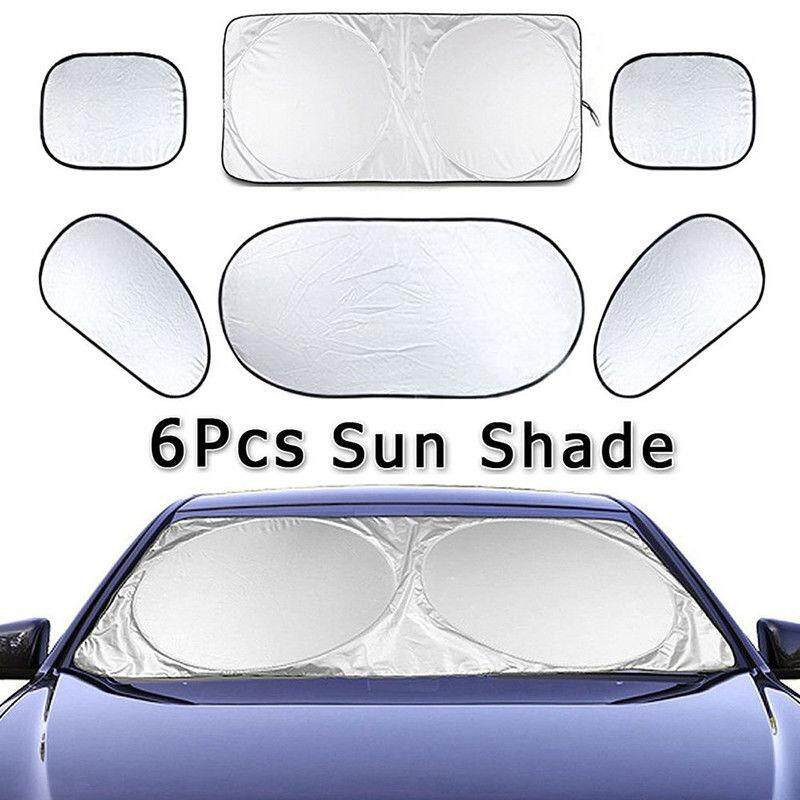 โปรโมชั่น! Z one Car ม่านบังแดด 6 ชิ้น กันร้อน ม่านกันแดด รถยนต์ (กันรังสี UV 98%) 4 ด้านเต็มคัน