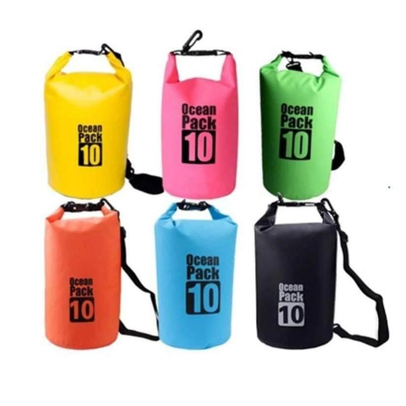 กระเป๋ากันน้ำ ถุงกันน้ำ ถุงทะเล Waterproof Bag ความจุ 10 ลิตร By Sporthelthy.