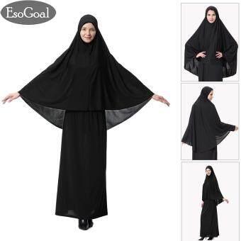 ซื้อ EsoGoal ฮิญาบแฟชั่น ผ้าพันคอผ้าโพกหัวหมวก Women's Muslim Large Overhead Hijab Abaya Jilbab Islam Long Sleeve Hijab Abaya Prayer Dress for Hajj Umrah ...