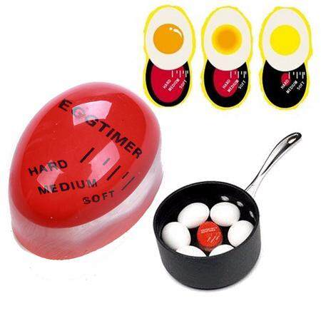 ไข่เปลี่ยนสีวัดอุณหภูมิในการต้มไข่ .