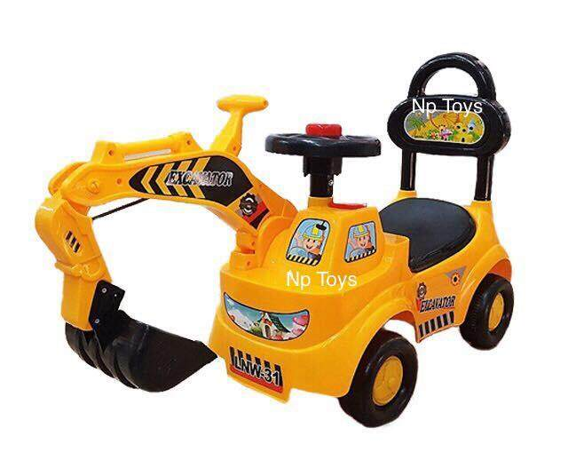 Toykidsshop รถขาไถขุดดิน รถแมคโครขุดดิน มีเสียงดนตรี By Toykidsshop.
