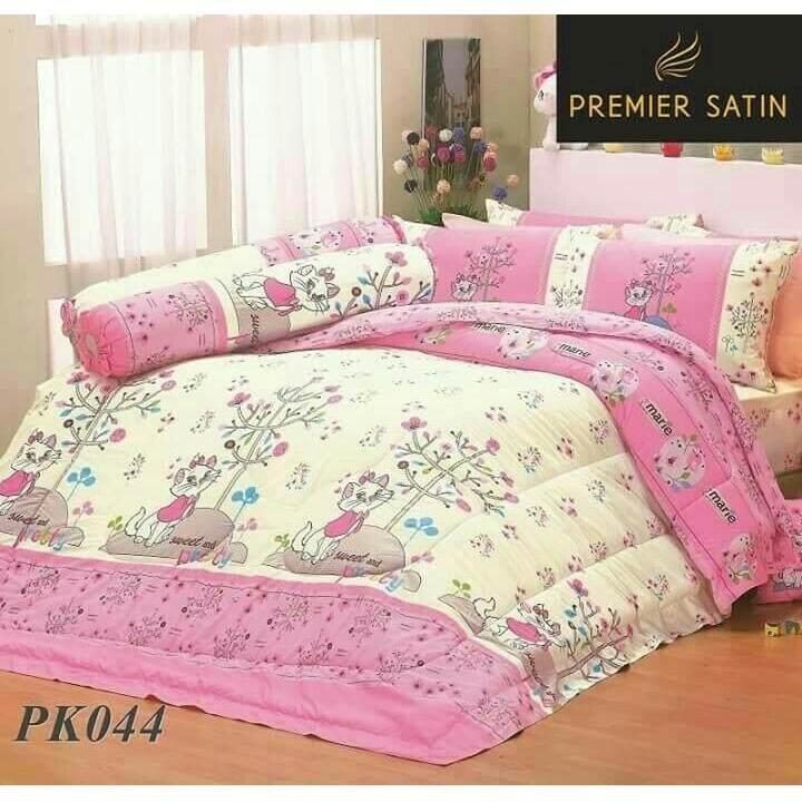 ขาย Premier Satin ผ้าปูที่นอน 3 5 ไม่รวมผ้านวม ลายแมวมาลี รุ่น Pk044 Premier Satin