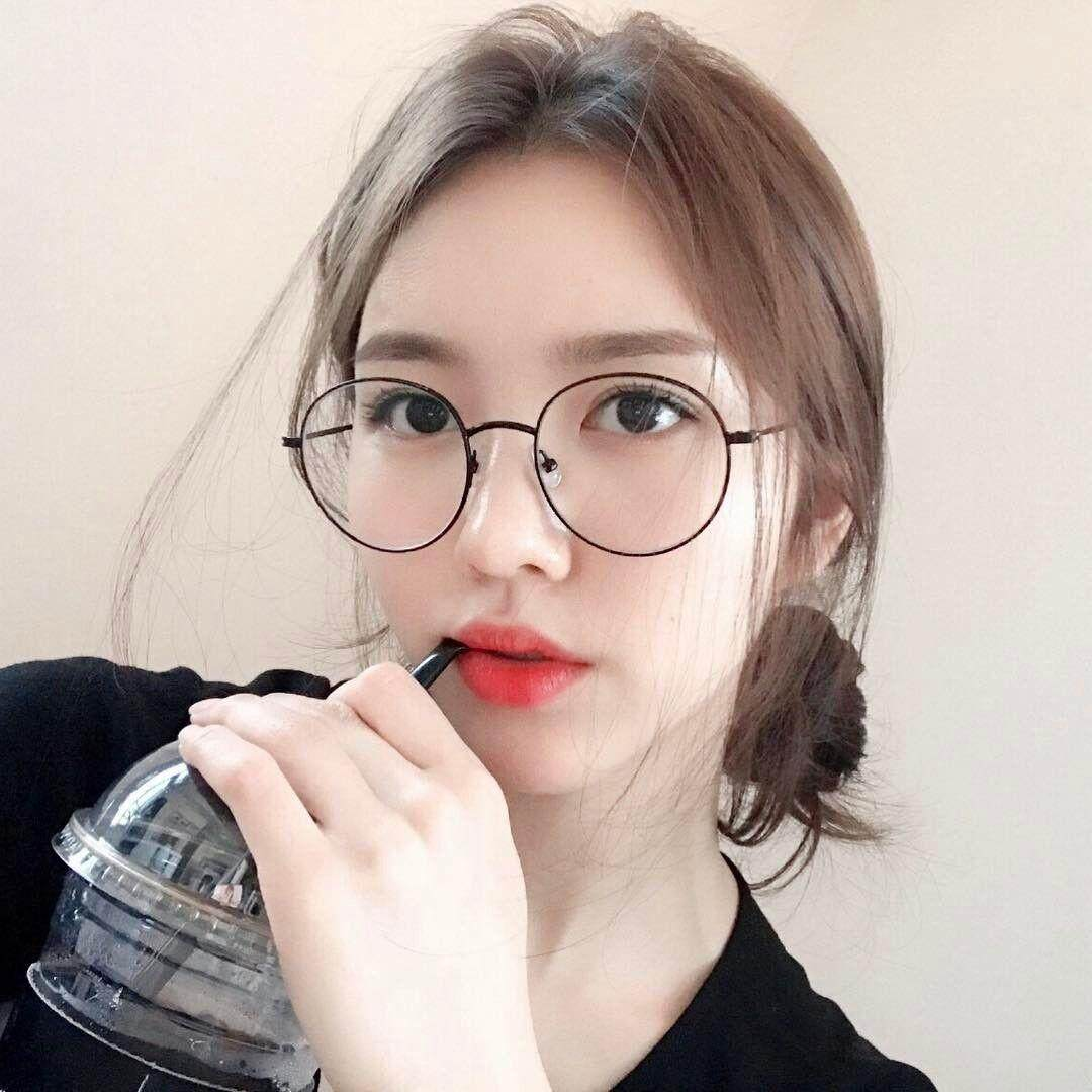 แว่นตาแฟชั่น ทรงหยดน้ำ สไตล์เกาหลี เลนส์ปกติ.
