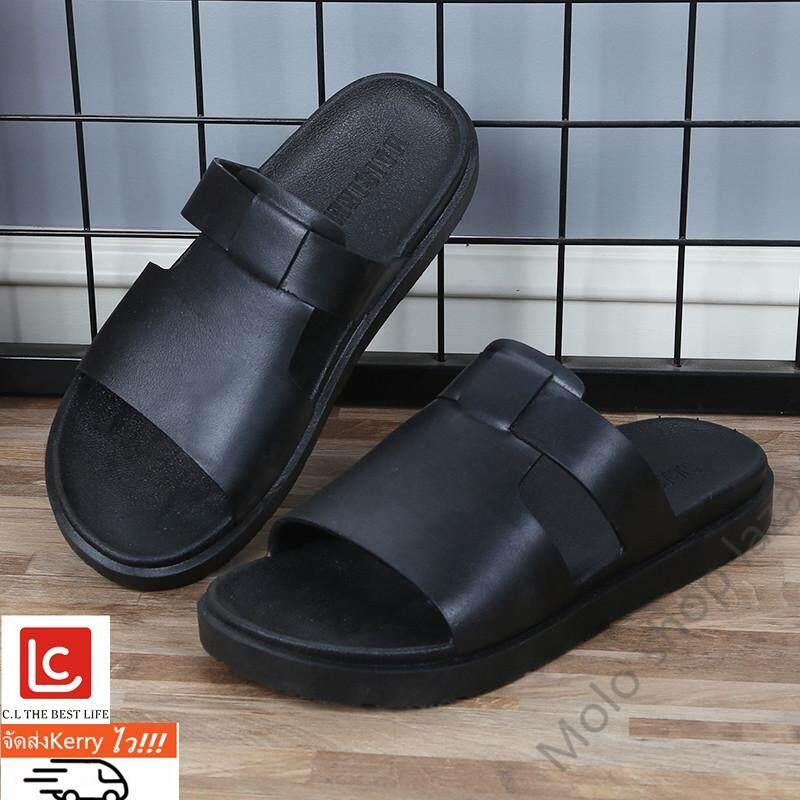 รองเท้าแตะชาย ยางนิ่ม รับน้ำหนักได้ดีใส่สบายCDM81909 เบอร์ 40 ถึง 45( แนะนำให้ซื้อเพิ่ม1เบอร์)