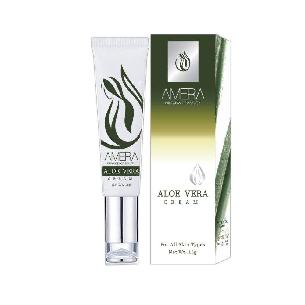 ขาย Amera Aloe Vera Cream ครีมว่านหางจระเข้ รักษาสิว 15 G เป็นต้นฉบับ