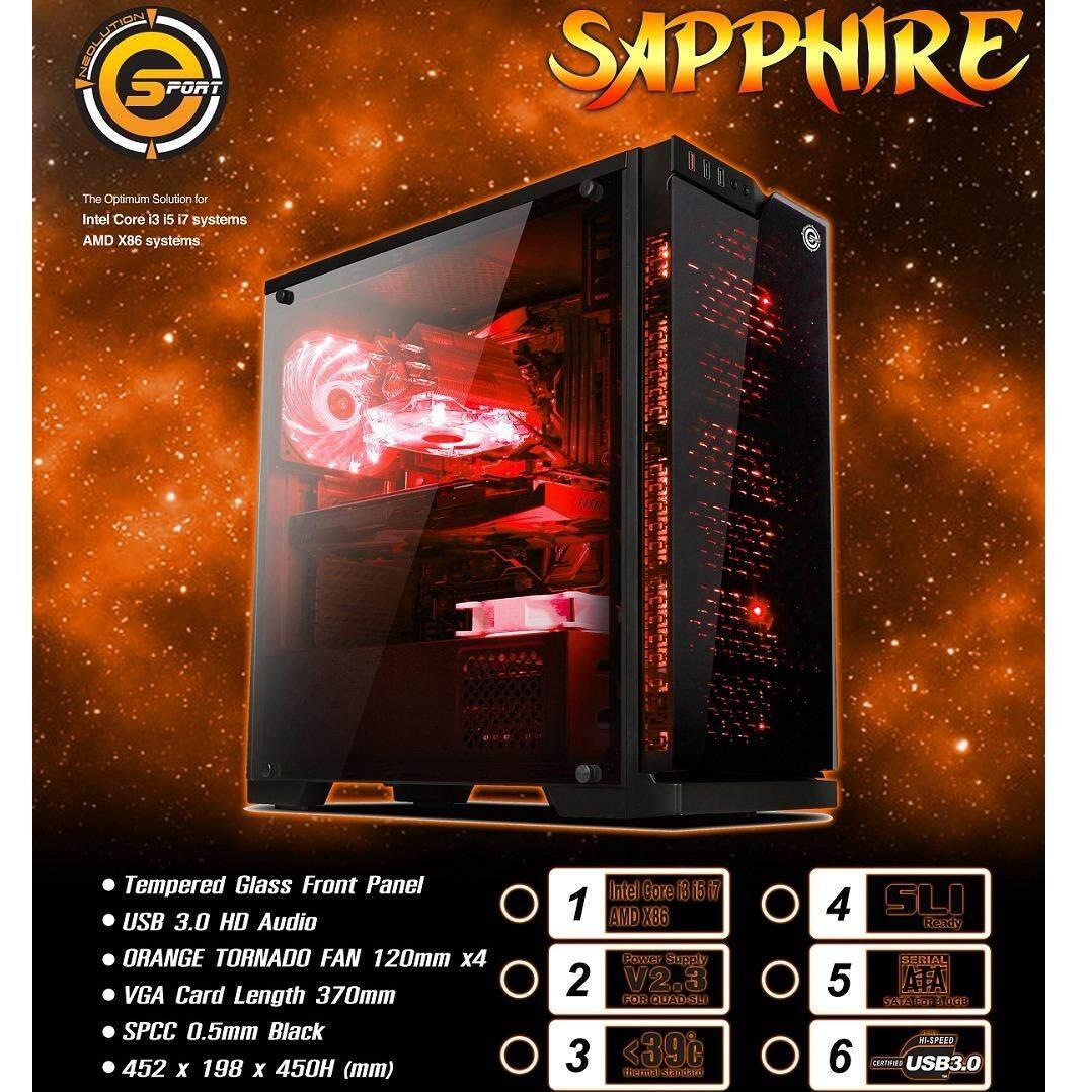 Neolution E-Sport case SAPPHIRE เคสคอมพิวเตอร์ จากค่าย Neolution E-Sports(ราคานี้เฉพาะเคสเปล่า)รับประกันศูนย์