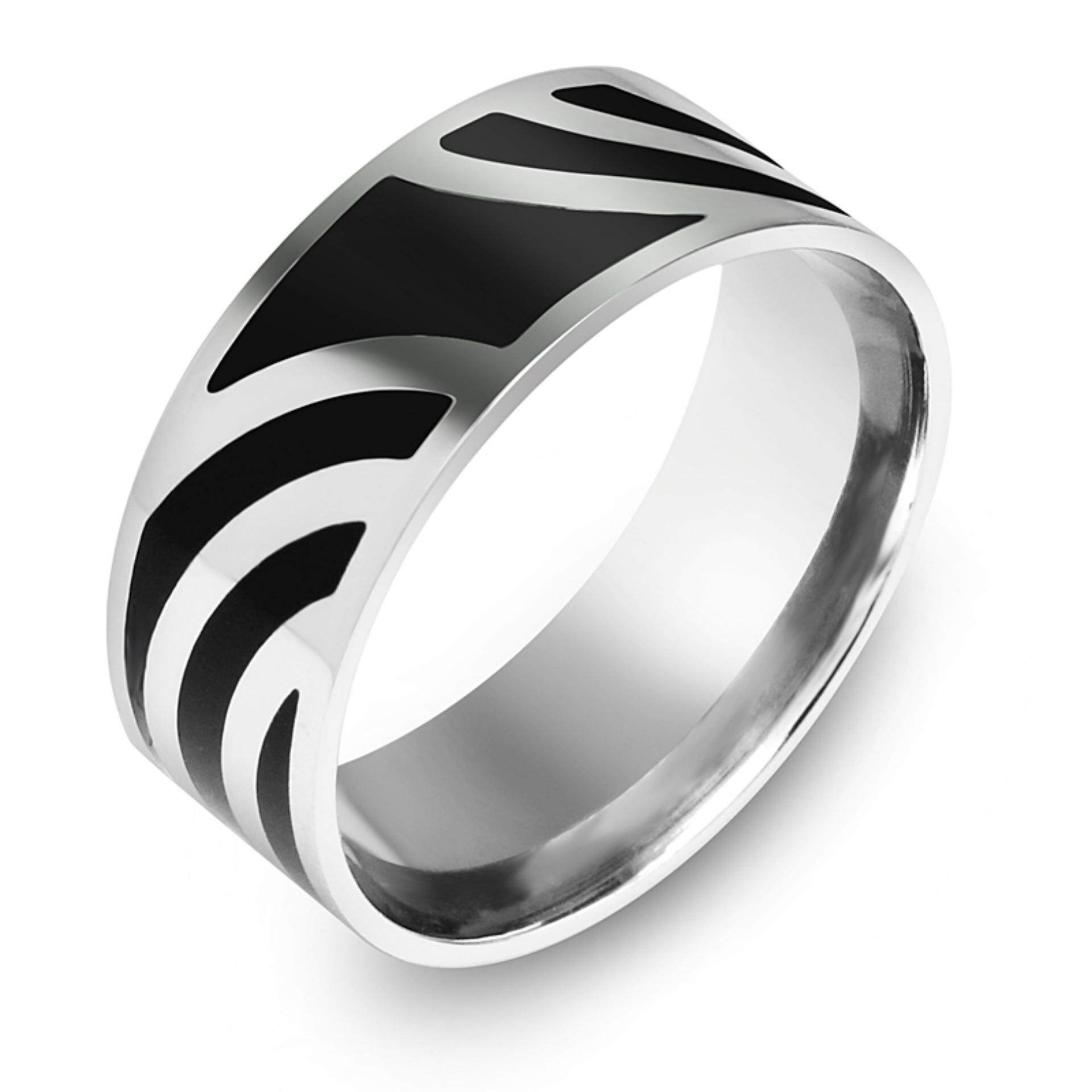 555jewelry แหวน รุ่น SNRN144 (สี Steel/Black Epoxy) (R9)