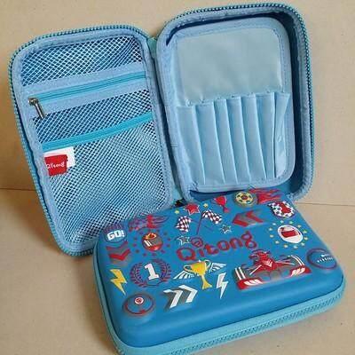 ส่งฟรี Kerry!!! ขาย กล่องดินสอสมิกเกิ้ล EVA กระเป๋าดินสอ กล่องดินสอ smiggle hardtop pencil case 3d 3ดี ลาย รถแข่ง ฟ้า