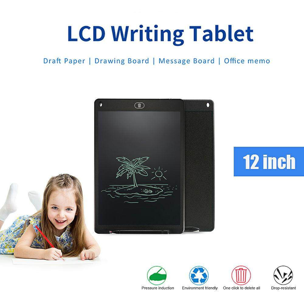 12 Lcd Writing Pad Electronic Drawing Tablet Memo Message Graphics Board.