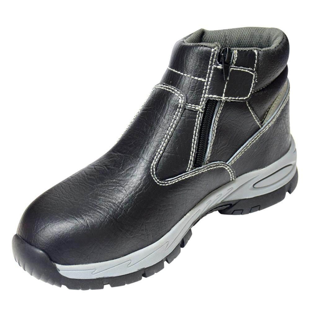 PANTHERS WELDER รองเท้าเซฟตี้ หุ้มข้อ มีซิป เบา พื้นยาง TPR กันลื่น หัวคอมโพสิต 200 จูล พื้นเสริมแผ่นเหล็ก