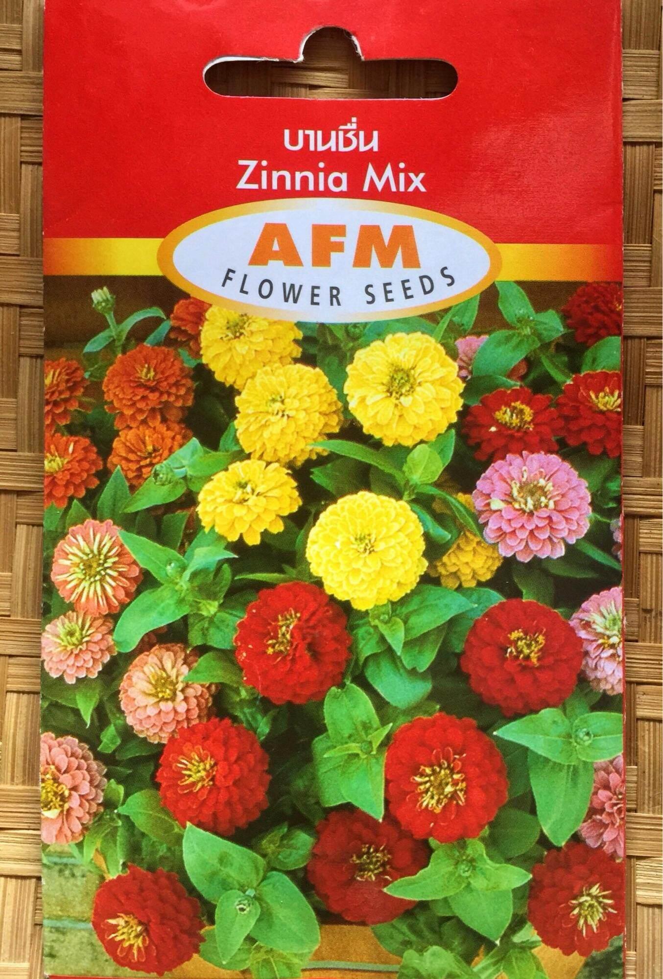 เมล็ดดอกบานชื่น หลากสี (zinnia Mix).