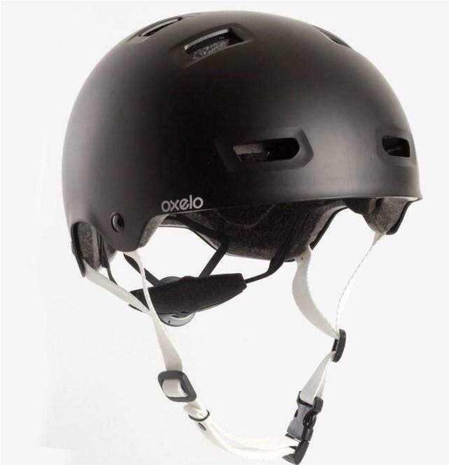 Oxeloหมวกกันน็อคสำหรับอินไลน์สเก็ต สเก็ตบอร์ด สกู๊ตเตอร์ และจักรยาน รุ่น Mf 5 (สีดำ)ไซน์ M.