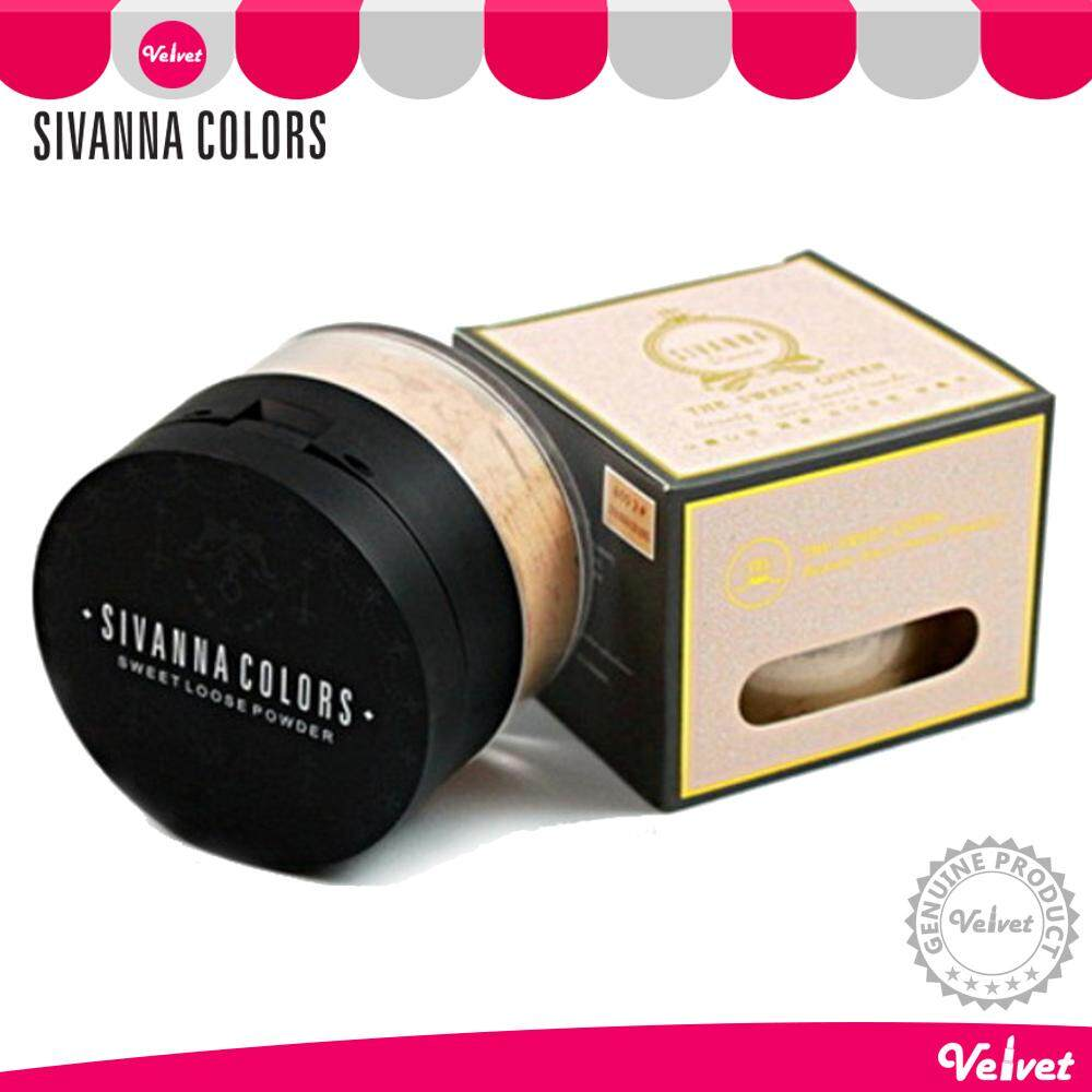 Sivanna Colors The Sweet Queen Beauty Face Sweet Loose Powder + Press Powder SPF25 PA+++ HF605 2in1 แป้งพัฟ + แป้งฝุ่น ซีเวียน่า แป้งอัดแข็ง แป้งซิวันนา (velvetcosme)