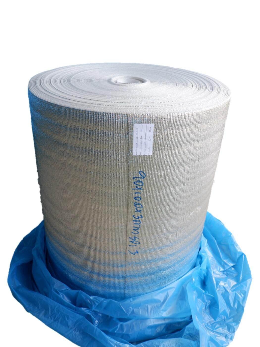 ฉนวนกันความร้อน PE เคลือบฟอยล์ลดความร้อน หนา 3mm กว้าง 90cm ยาว 50m (ส่งฟรี)Kerry แผ่นฉนวนกันความร้อน เก็บความเย็น แผ่นโฟมเคลือบฟอยล์ PE(Polyethylene) ขนาด 3mm x 90cm x 50m