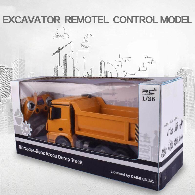 รถดั้มบังคับวิทยุ รถบรรทุกบังคับวิทยุ รถก่อสร้างบังคับ Double Eagle Dump Truck 6 Ch ขนาด 1:26.