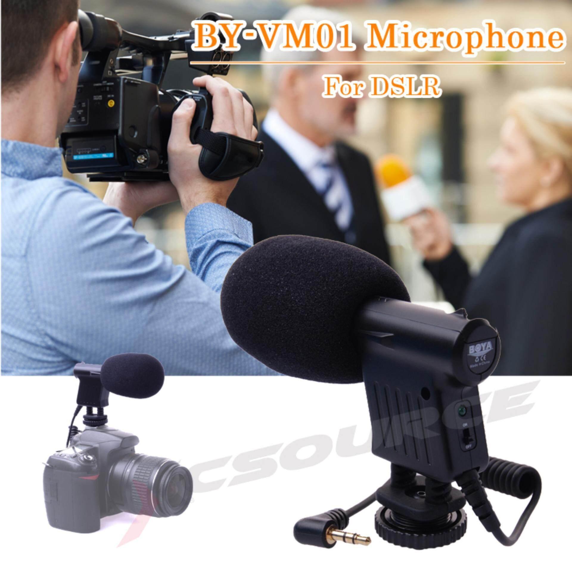 ขาย ซื้อ ออนไลน์ Boya ไมโครโฟน By Vm01 สำหรับ Dslr Camera Camcorder Dv