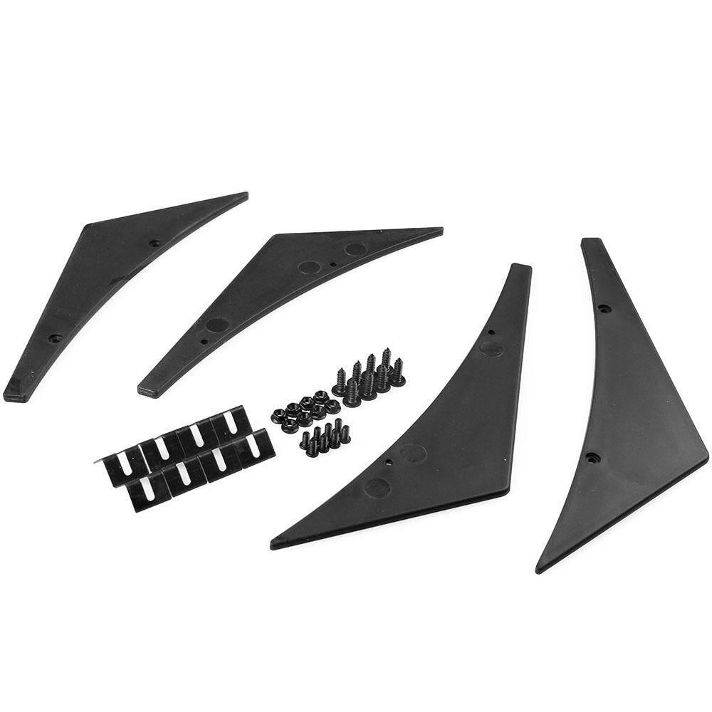SK black Car Refit Part Front Bumper Lip Diffuser Splitter Fins Spoiler  Canards General Use