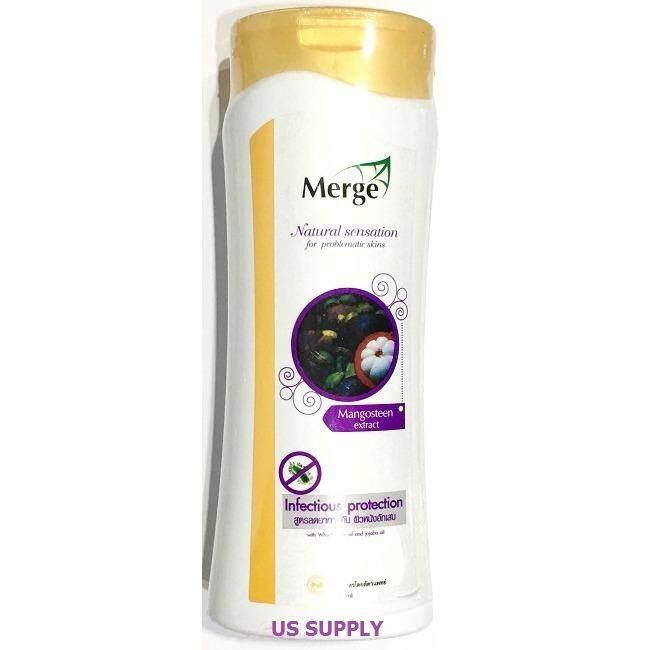 สุดยอดสินค้า!! Merge Natural Mangosteen Extract แชมพูสูตรเปลือกมังคุด ลดคัน ผิวอักเสบ ต้านเชื้อรา แบคทีเรีย (300 ml) EXP: 02/2020 +ส่ง KERRY+