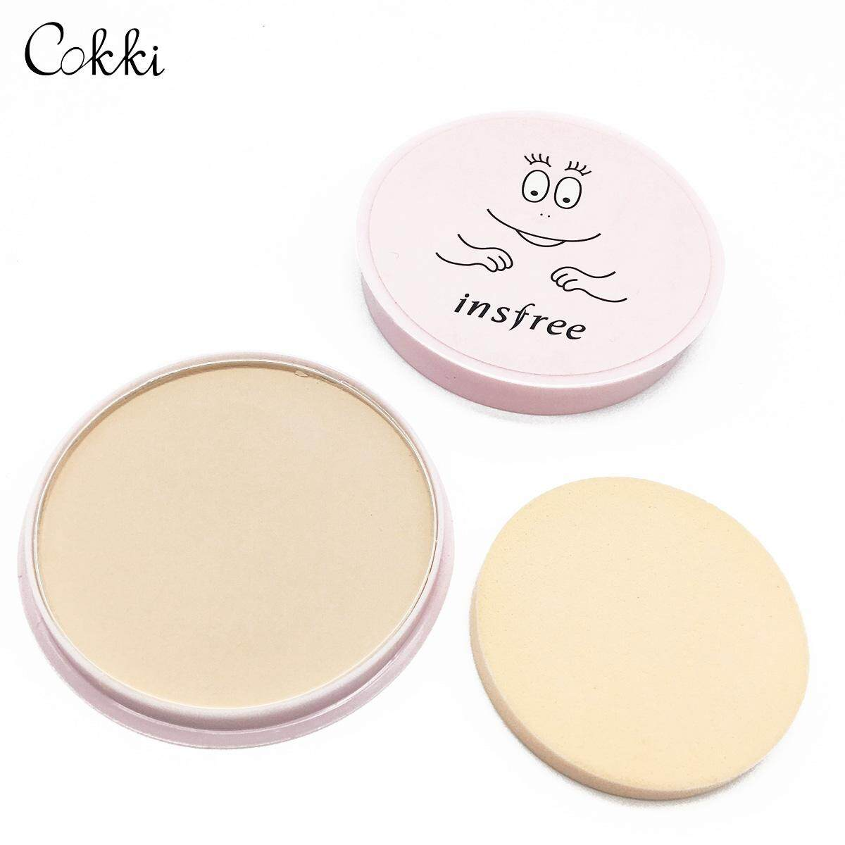 Insfree  In402 Powder Cake Makeup Cover Concealer And Dot Bottom Makeup Waterproof Not To Remove Makeup Powder-Cokkicosmtic ควบคุมน้ำมัน น่ารัก ใช้แล้วหน้าขาว ปกปิดดี.