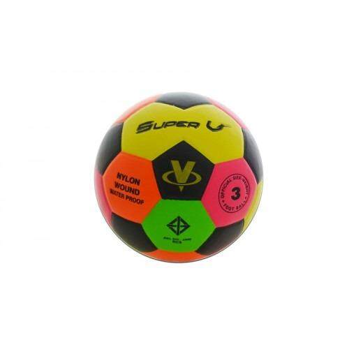 ยี่ห้อไหนดี  Super V ลูกฟุตบอล เบอร์ 3 Football No.03 หนังเย็บ PVC สีสะท้อนแสง