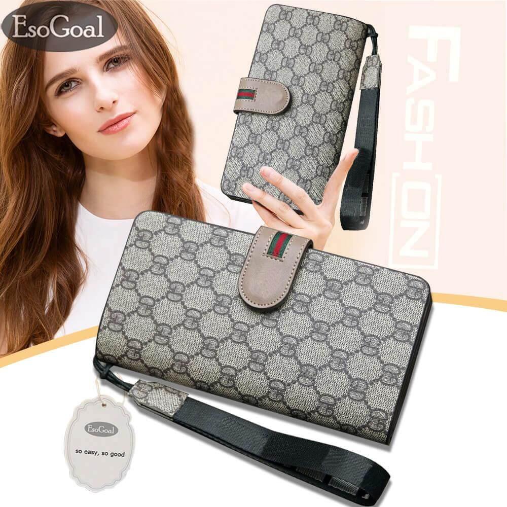 ซื้อ Esogoal กระเป๋าสตางค์ใบยาว กระเป๋าเงินผู้หญิง กระเป๋าสตางค์ ผู้หญิง รุ่น Fashion Women Leather Wallet ถูก ใน จีน