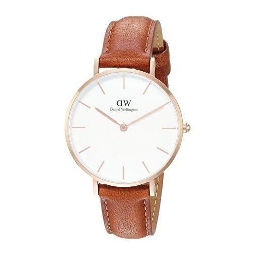 ซื้อ Daniel Wellington Dw00100172 Classic Petite Durham White Dial 32Mm นาฬิกาข้อมือ แฟชั่น ผู้หญิง สายหนัง สีทองแดง White Dial Leather Strap Daniel Wellington