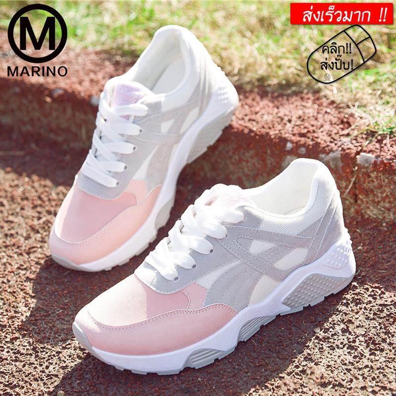 Marino Sport Shoes รองเท้า รองเท้าผ้าใบ รองเท้าแฟชั่น รองเท้าผ้าใบผู้หญิง No.a061 By Marino.