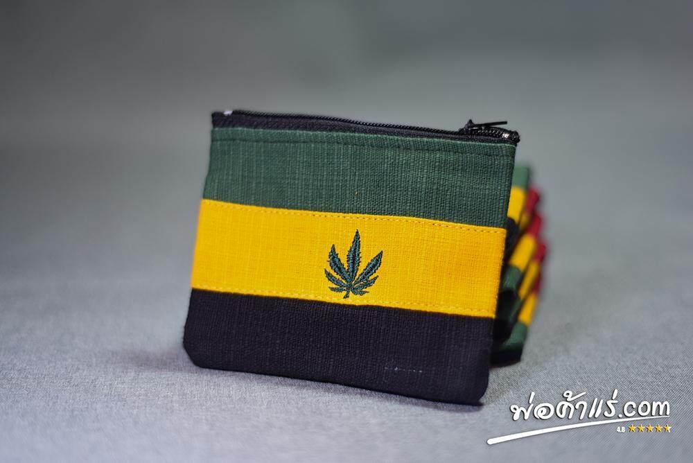 กระเป๋าใส่เศษเหรียญ ใส่บัตร ลาย Rasta By Porkarare.