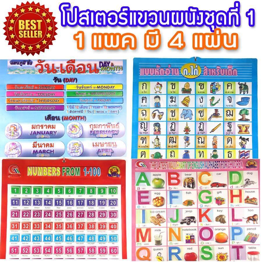 Fead-ป้าย โปสเตอร์ โปสเตอร์ โปสเตอร์แขวนผนัง แผ่นป้ายพยัญชนะภาษาไทย ชุดที่ 1 .